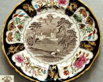 Vintage Mason's Ironstone Christmas Plates Series 1978 Balmoral Castle Decorative Cabinet collectors Plate (ref: 3200)