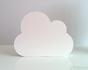 Cloud Nursery Decor- Cloud Sculpture- Wooden Cloud Home Decor- White Nursery Decor- Cloud Ornament- Minimalist White Home Decor