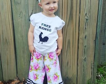 Free Range baby shirt, chicken shirt,  baby clothes
