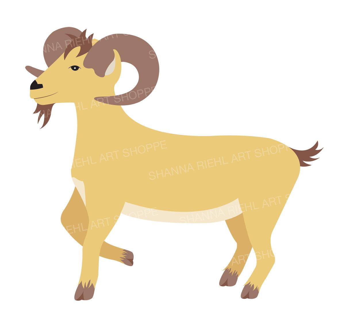 Farm Clipart Goat Art   Barn Life Commercial Use Baby ...