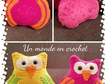 Cushion owl (PDF in french)