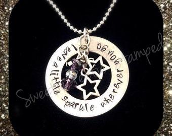 Sparkle Stamped necklace