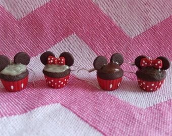 Mouse Cupcakes / Handmade / Polymer Clay