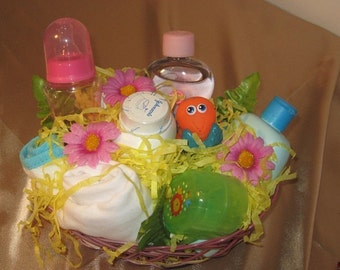 Baby boy gift basket for baby shower