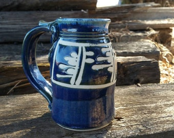 Shiny blue mug