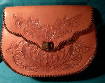 Hand Tooled Western Handbag in Superb Condition.