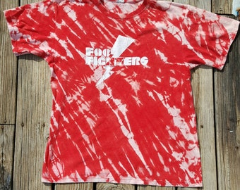 Something From Nothing Foo Fighters Reverse Tie Dyed Shirt