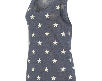 Navy Star Ladies Tank Top