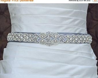 Wedding Belt, Bridal Belt, Sash Belt, Crystal Rhinestone Belt, Wedding Dress Sash, Style 5535