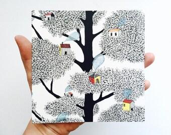 Postcard tree city