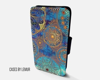 BOHEMIAN Iphone 7 Plus Wallet Case Leather Iphone 7 Plus Case Leather Iphone 7 Plus Flip Case Iphone 7 Plus Leather Wallet Case Leather
