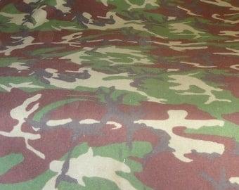 Vintage 1984 Flannel Camoflauge Scrap Material