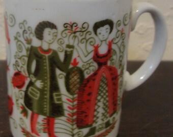Vintage Man and Woman Mug/Japan