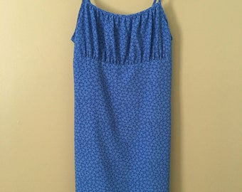Vintage 90's Express Blue Floral Skort Mini Dress