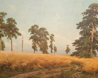 Ivan Shishkin, A Rye Field, Vintage Canvas Print Landscape