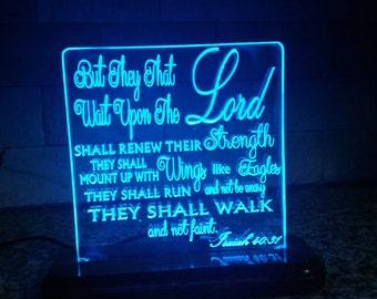 LED Bible Verse Isaiah 40:31
