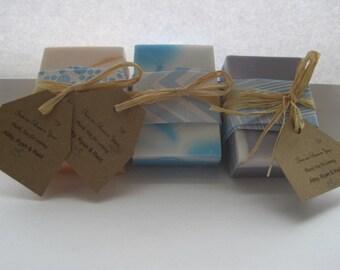 Homemade soap wedding/shower favors customized