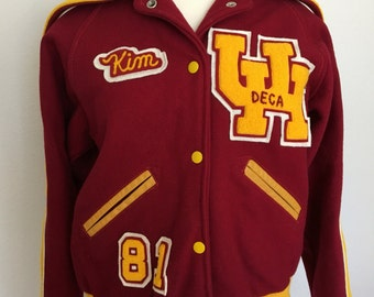 1981 UH Letterman Jacket wool XS