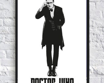 Doctor Who Inspired Poster - A4 - 11th Doctor - TV Poster