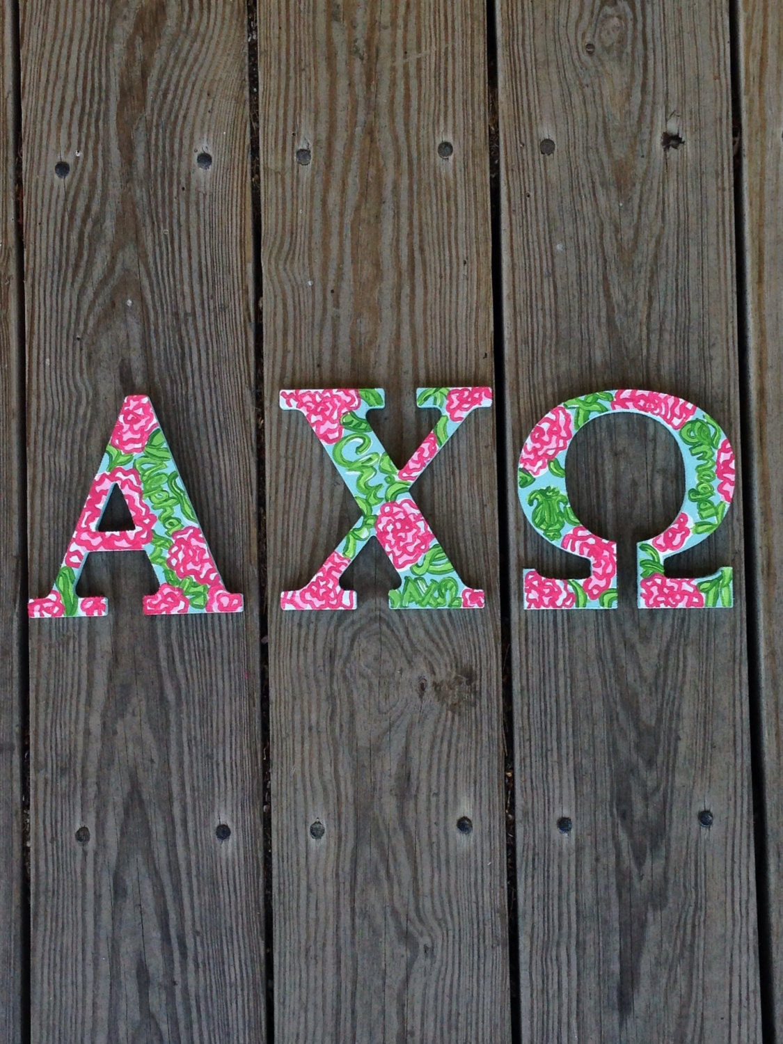 alpha chi omega lilly pulitzer inspired letters wooden sorority letters lilly letters sorority letters alpha chi lilly print