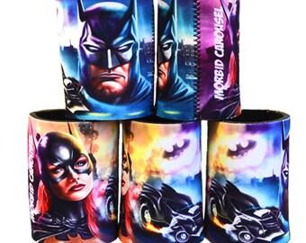 Batman and Batgirl Stubbie Cooler  - Stubby Can Holder
