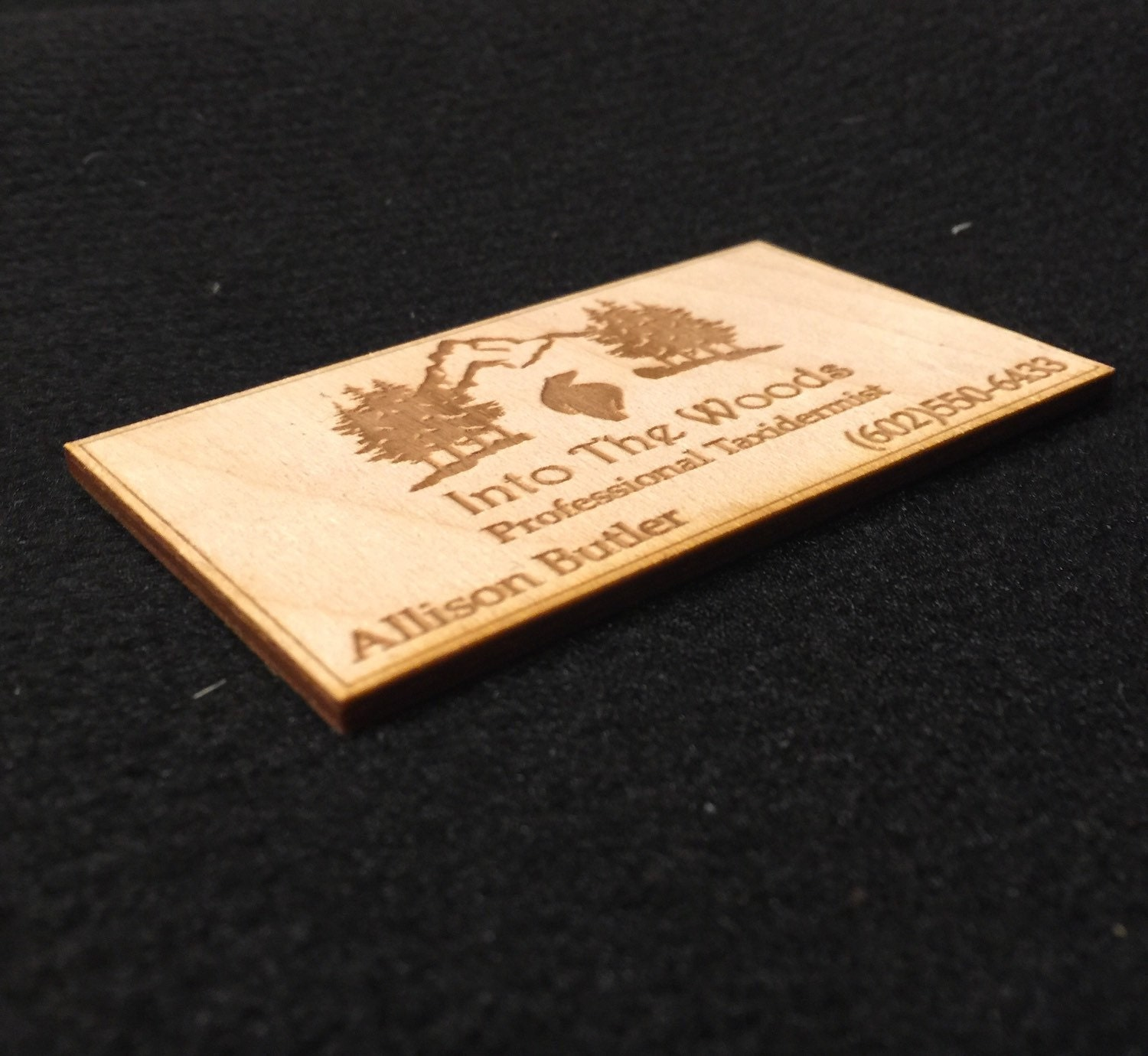 real wood engraved business cards laser cut wooden cards wood