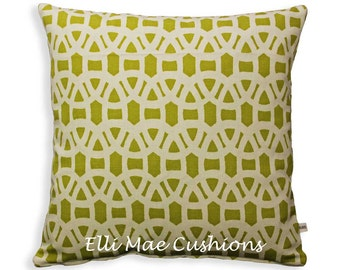 Harlequin Scion Lace Designer Fabric Olive Neutral Cushion Pillow Cover