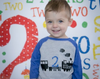 Train birthday shirt, choo choo train birthday shirt, train t-shirt, train shirt, train birthday party, choo choo train party