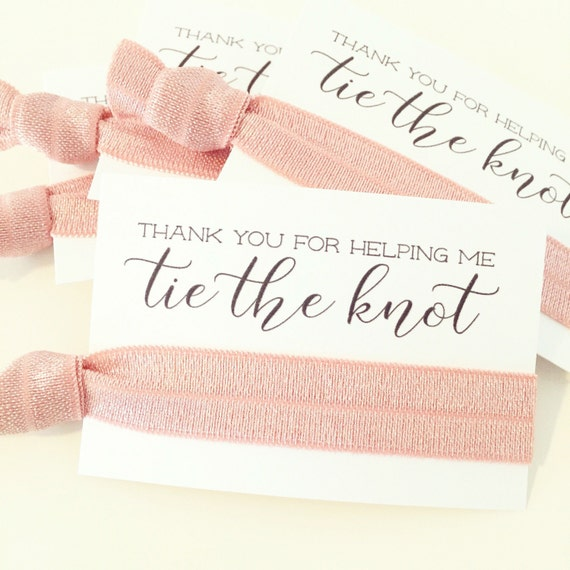 CHOOSE YOUR COLORS   Bridal Shower Hair Tie Favors   Blush Pink Wedding Shower Hair Tie Favors, Bridesmaid Gift Hair Ties, Light Pink Blush