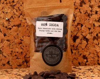 Dark Belgian chocolate drops- 80% cocoa