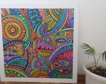 Abstract colourful painting