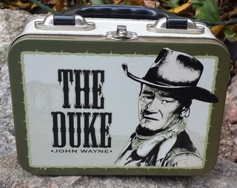 Vintage John Wayne Metal Lunchbox - The Duke