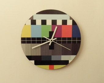 Monoscope patterned one art clock  colourful wall clock modern wall clock, unique wall clock, Housewares, Retro wall clock
