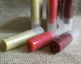 VEGAN Shimmer & Tinted Lip Balm - Vegan Lip Balm - Organic Lip Tint