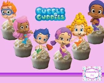 Bubble Guppies Cakepop/Cupcake topper