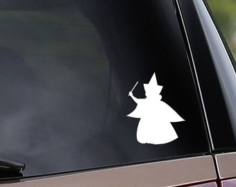 Vinyl Car Decal - Merryweather Inspired - Fairy Godmother - Sleeping Beauty - Car Window Decal - Laptop Decal - Bumper Sticker