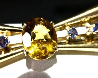 RETRO MODERN Bow Brooch | Citrine | 14K Gold | Perfectly Sweet