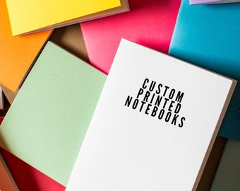 CUSTOM Notebooks printed - staple bound, diary, tiny journal, party favor, booklet printing, custom printing included, black ink only