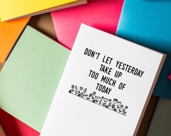 Today Notebook diary journal party favors live today note notes motivation book adventure book