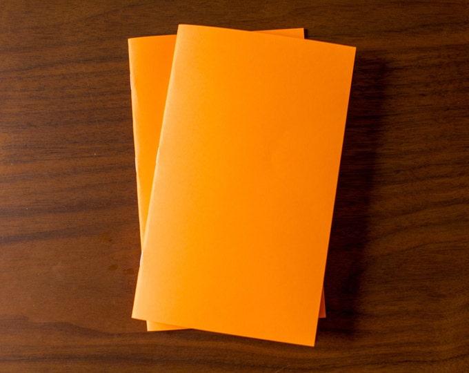 Orange Notebooks - 2 Pack Journal, Planner, Journal Insert, Planner Insert Mini Diaries, Jotters, Blank Books, Paper Notebook, bulk