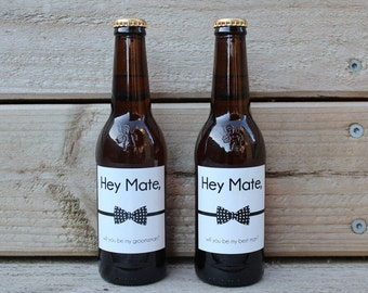 Will you be my Groomsmen label gift