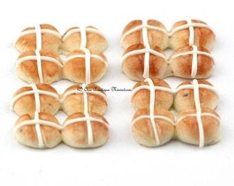 Dolls House Miniature -Food-Hot Cross Buns