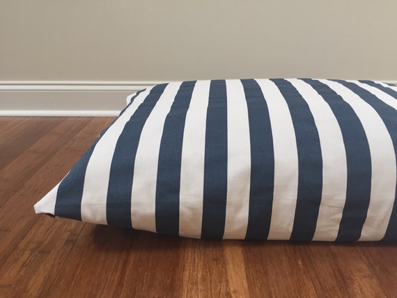 Stripes Dog Bed Cover Nautical Dog Bed Cover Blue By Plushpup