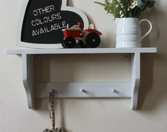 Shakers shelf with pegs, shabby chic distressed finishes