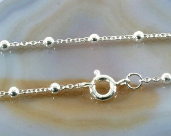 Silver necklace, chain in 925 sterling silver - 6076
