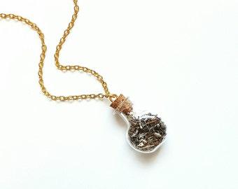 Watch Part Bottle Necklace // Watch Cog Jewelry // Watch Cog Necklace // Steampunk Jewelry // Steampunk Necklace