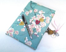Secret diary with lock / diary in Liberty / artist book / book notes/book of travel/cooking / protects notebook