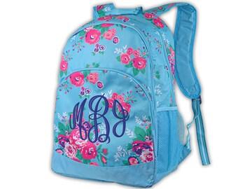 Personalized School Backpack | Monogram Book bag with Name | Back to School Backpack for Girls | Kindergarten - High School Backpack