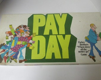 Vintage Pay Day Board Game COMPLETE Parker Brothers 1975 USA General Mills