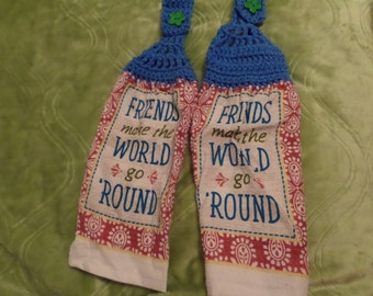Friends Kitchen Towel Set of 2, Hanging towel, Kitchen Dish Towel